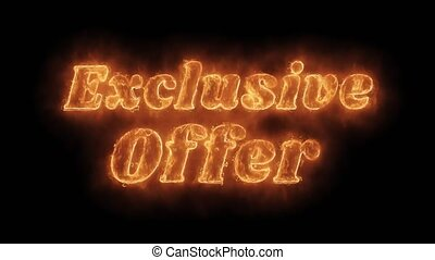 Exclusive Offer Word Hot Animated Burning Realistic Fire...