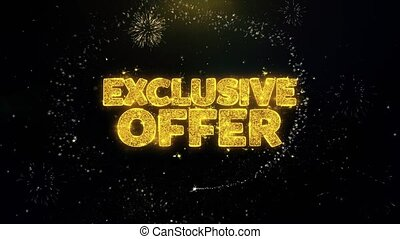 Exclusive Offer Written Gold Particles Exploding Fireworks...