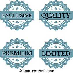 exclusive premium limited quality stamp