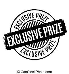 Exclusive Prize rubber stamp