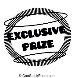 EXCLUSIVE PRIZE stamp on white