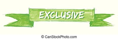 exclusive ribbon - exclusive hand painted ribbon sign
