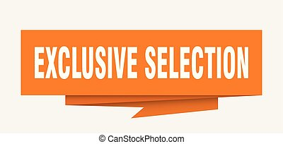 exclusive selection sign. exclusive selection paper origami...