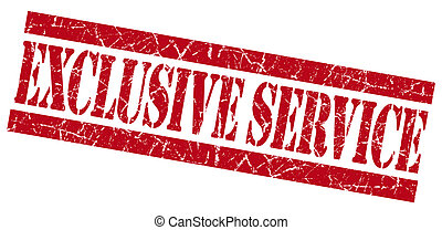 Exclusive service red grunge stamp