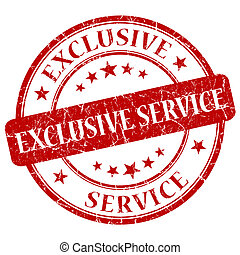 Exclusive Service Red Stamp