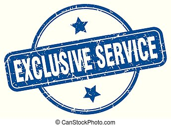exclusive service round grunge isolated stamp