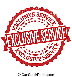 Exclusive service grunge rubber stamp on white, vector illustration