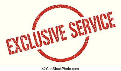 exclusive service stamp - exclusive service red round stamp