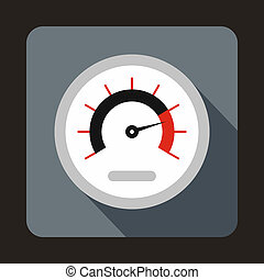 Exclusive speedometer icon, flat style