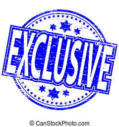 """Rubber stamp illustration showing """"EXCLUSIVE"""" text"""