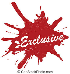 Exclusive - Stamp with exclusive inside, vector illustration