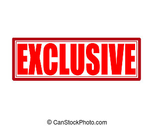 Exclusive - Stamp with word exclusive inside, vector...