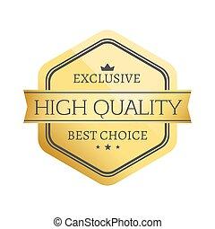 exclusivo, alto, calidad, mejor, vector, ilustración