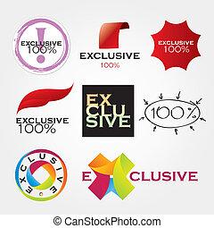 exclusivo, companhia, logotipos