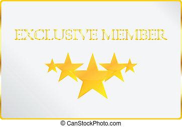 exclusivo, miembro, tarjeta