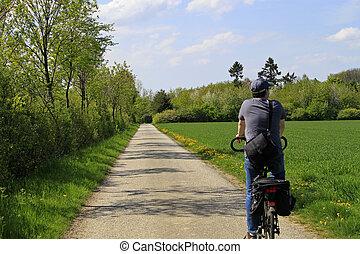 excursão, bicicleta