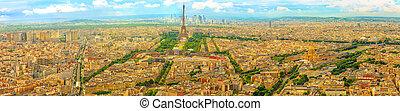 excursão, montparnasse, parisian, panorama