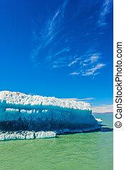 Excursion to white-blue glacier