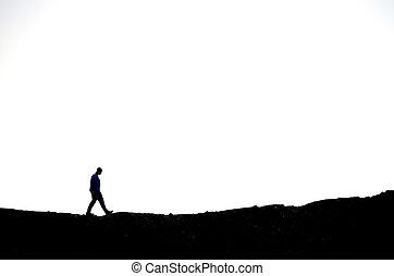 excursionismo, hombre