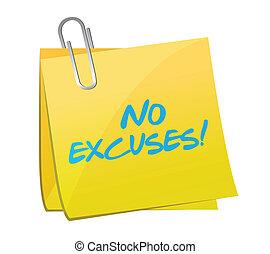 excuses, poste, conception, illustration, non