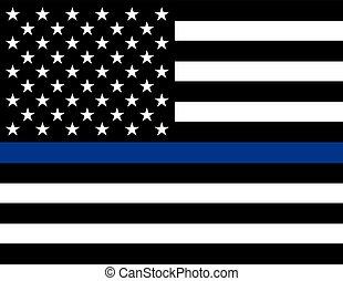 execução lei, apoio, bandeira