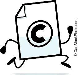 executando, direitos autorais