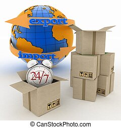 Executing online delivery of goods instream 24 hours -...