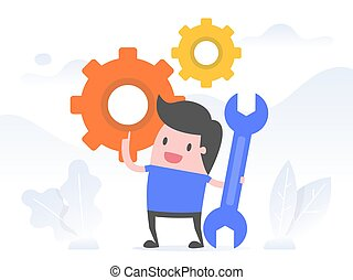 Execution, Implementation. Business Concept Illustration.