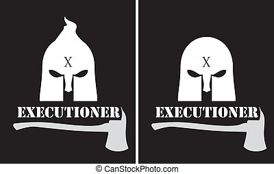 executioner over the black backdrop