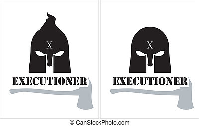 executioner over the white backdrop