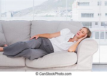 executiva, mentir sofá