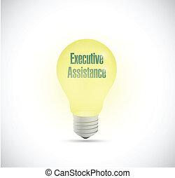 executive assistance light bulb illustration