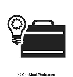 executive briefcase with bulb light