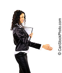 Executive business woman handshake