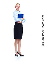 Executive business woman. Isolated over white background.