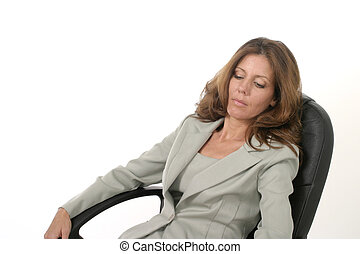 Executive Business Woman Relaxing