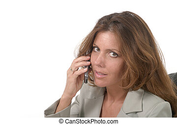 Executive Business Woman with Cellphone 2