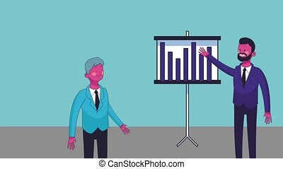Executive businessman cartoon HD animation - Business...