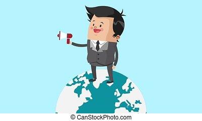 Executive businessman cartoon HD animation - Businessman...