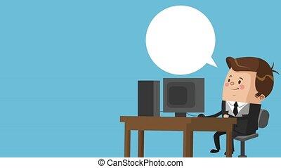 Executive businessman cartoon HD animation