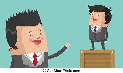 Executive businessman cartoon HD animation - Businessmen...