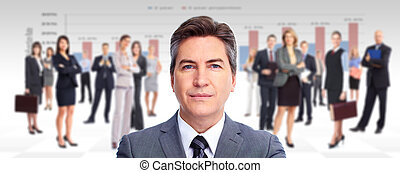 Executive businessman. - Executive businessman and a group...
