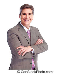 Executive businessman. Isolated on white background.