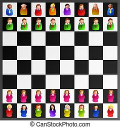executive chess - icon people are the chess pieces
