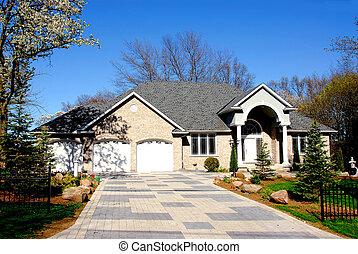 Executive home - Big executive home in early spring