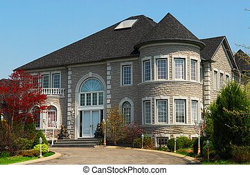 Executive home - Exterior of a large beautiful executive ...