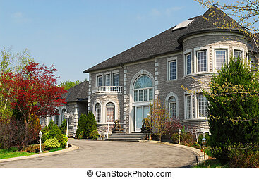 Executive home - Front of a large beautiful executive home ...
