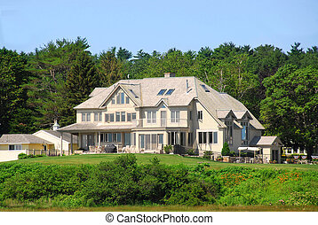 Executive home - Large executive home surrounded by green...