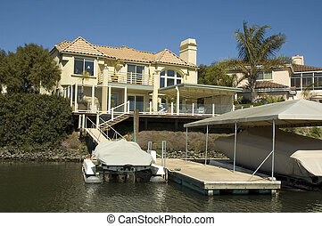 Executive home in a housing commuinity in Northern California with waterfront access to the delta
