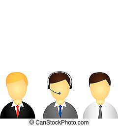 executive icon - young men executive isolated over white...